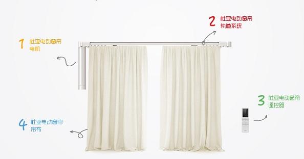 杜亚电动窗帘