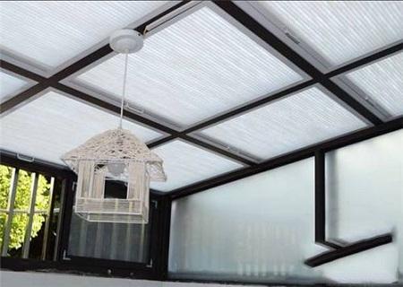 电动蜂巢天棚帘半遮光款