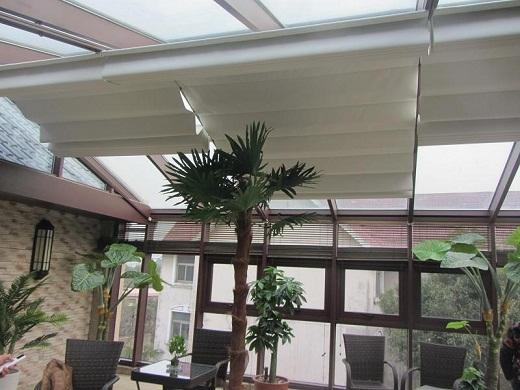 阳光房电动遮阳棚